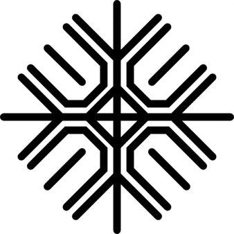 Flocke von Linien in einem Muster von vier Nummer