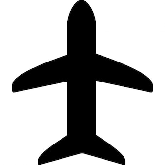 Flugzeug schwarze Form