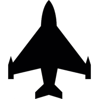 Flugzeug Transport Silhouette in Schwarz Form
