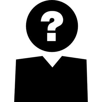Frage Zeichen auf Person Kopf