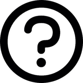 Fragezeichen in einem Kreis