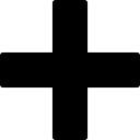 Fügen gefüllt Kreuzzeichen