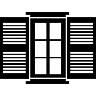Geöffneten Fenster Tür