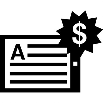 Handout mit US-Dollar Preisschild