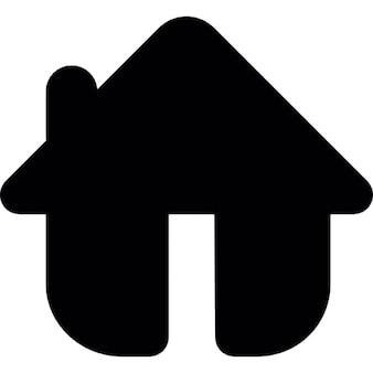 Haus in schwarz abgerundete Form Variante