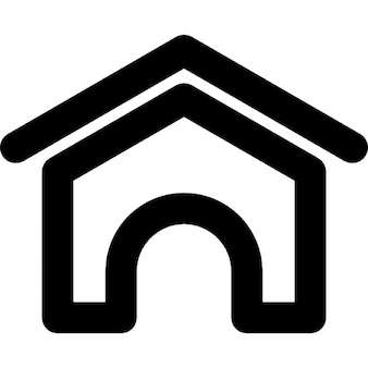 Zuhause schwarz variante download der kostenlosen icons for Haus umrisse