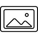 Im Bild gerahmt skizzierten Symbol