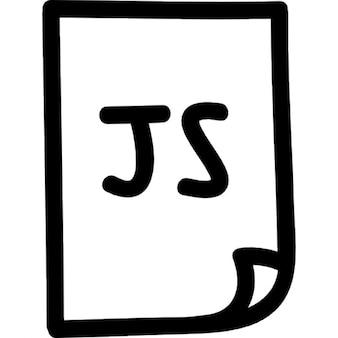 Java-Script-Datei von Hand gezeichnet