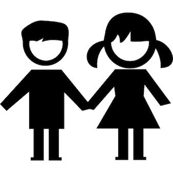 Kinder Paar