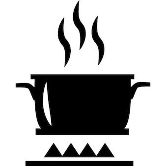Kochen am Feuer