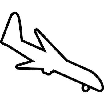 Landung Flugzeug-Form, ios 7-Schnittstelle Symbol