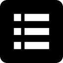Liste der drei Elemente auf schwarzem Hintergrund