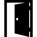 Offene Tür Eingang