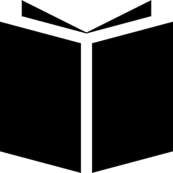 Offenes Buch schwarze Abdeckung