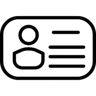 Persönliche Karte mit der abgerundeten Form
