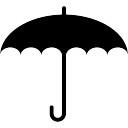 Regenschirm geöffnet Form