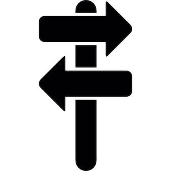 Richtungspfeile Straßenschild