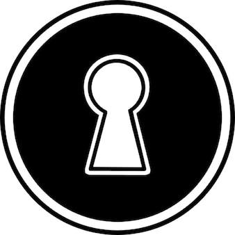 Schlüsselloch in einer Kreisform