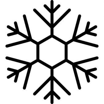 Schneeflocke Design mit dünnen Linien auf sechseckige Form