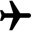 Schwarz Flugzeug