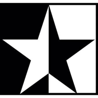 Schwarz weißer Stern