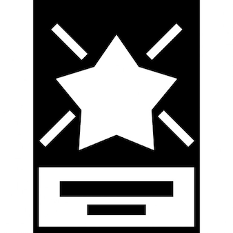 Stern in einem Flyer für Unternehmen