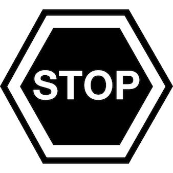 Stopp-Signal hexagonalen