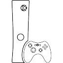 Videospiel-Konsole mit Gamepad