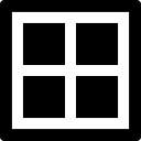 Vier Quadrate mit Rahmenform