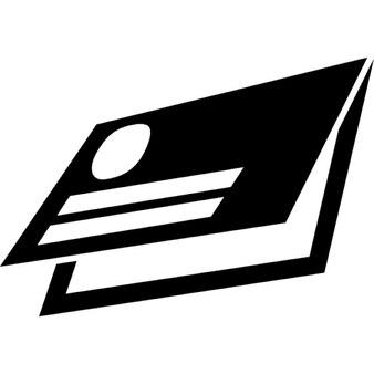 Visitenkarte von gefalteten Diptychon Design