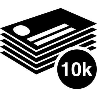 10k di biglietti da visita impilare
