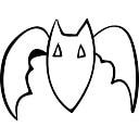 Bat contorno scaricare icone gratis - Contorno immagine di pipistrello ...