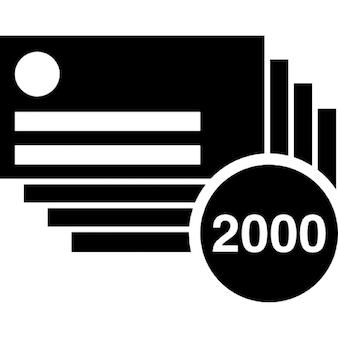 Biglietti da visita pila del 2000 di cancelleria per il marketing
