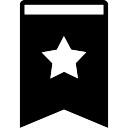 Bookmark strumento riempito con una stella