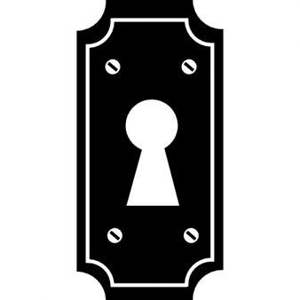 Buco della serratura di una porta