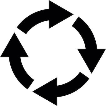 Cerchio di quattro frecce