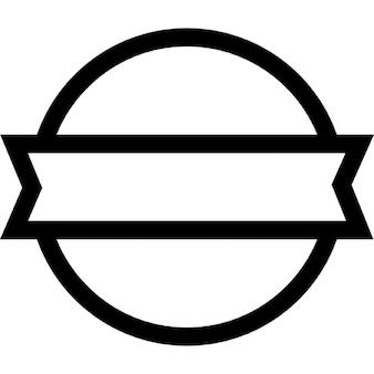 Distintivo circolare con un banner frontale