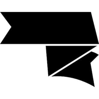Fiocco forma nero
