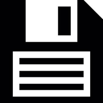 Floppy disc, Vintage Formato del disco di archiviazione, pulsante dell'interfaccia salvare