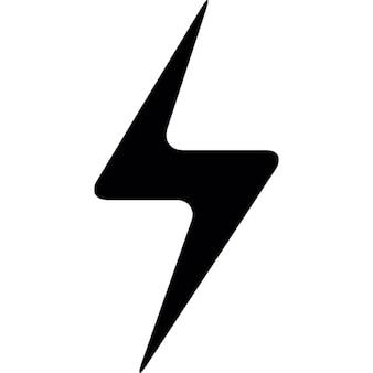 Fulmine nero simbolo bullone