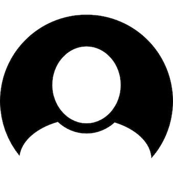 Immagine utente con sfondo nero
