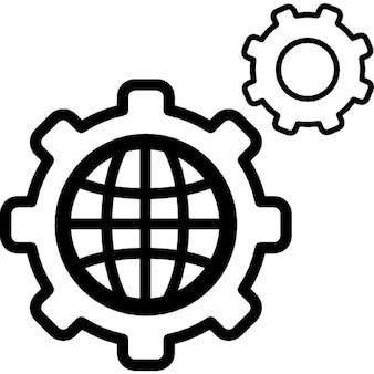 Impostazioni mondo simbolo circolare
