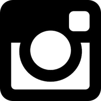 Instagram social network logo di macchina fotografica