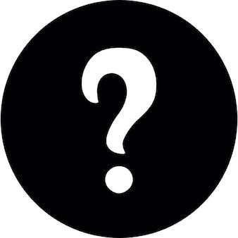 Interrogativo bianco icona punto