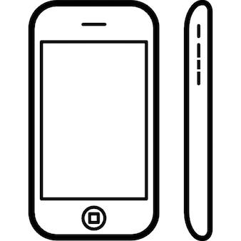 Iphone 3g frontale e vista laterale