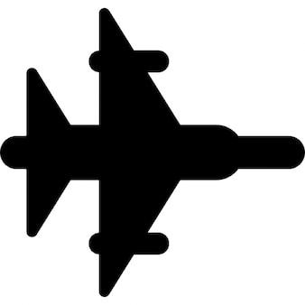 Jet da combattimento silhouette