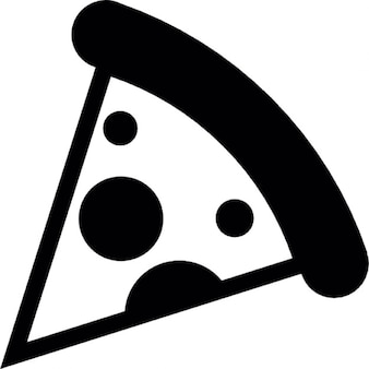 La pizza pezzo di forma triangolare