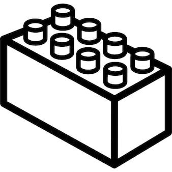 Lego 3d rettangolo di contorno