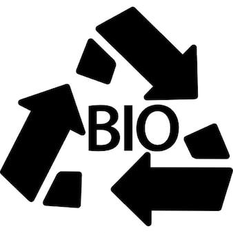 Massa bio simbolo di riciclo