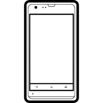 Modello di telefono cellulare sony contorno